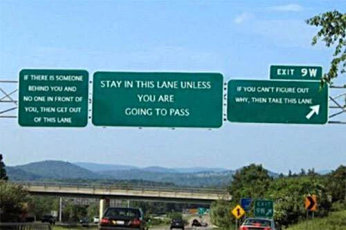 Unclear about which lane to use?