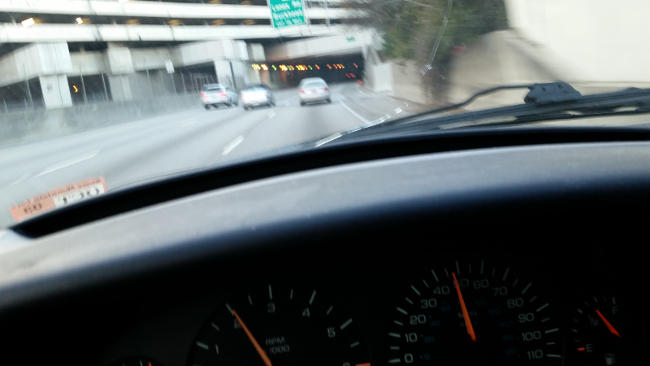 SC driver hurtling up GA 400 near the speed of 50