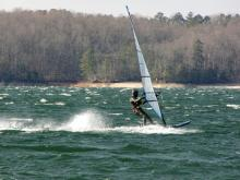 1 Big Blow Feb. 16, Gene at Lake Lanier