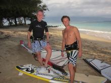 Evan & Dad at Kanaha Beach Park on Maui
