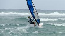 11 Barrett sailing out to reef