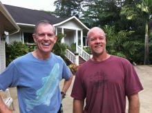 Barrett meeting windsurfing legend, Matt Pritchard
