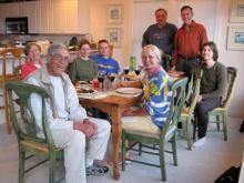 Crew for last week in Nags Head. Alma & Bob, Blanka & Marcel, Ron, Peggy & Barrett, Adam