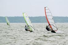 Adam, Barrett & Marcel enjoying a final day of warm, steady wind