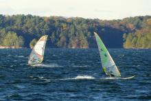 26 Nov 7, Gene and Scott windsuring on N wind
