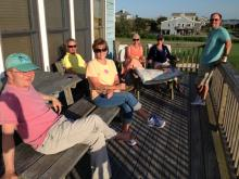 32 Relaxing on the deck before dinner