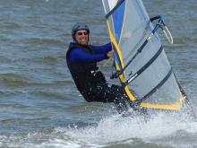 33 Philip windsurfing with new board & sail
