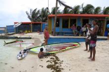 4 Jibe City windsurf rental at Lac Bay