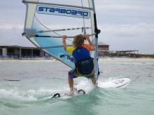 8 Windsurfer on starboard gear rented from Windsurfing Place in background