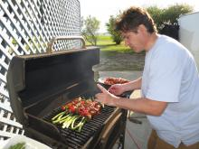 9 Alain cooking on grill