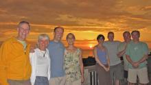 IMG_3126 Barrett & Peggy, Philip & Betsey, Kate, Marcel, Ron, Mel.  Sunset from deck..jpg