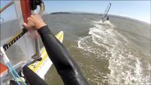 Movie Frame - Windsurfing SF Bay