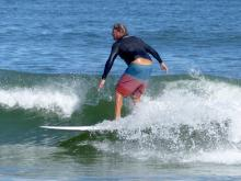 Surfer at Jeanette's Pier