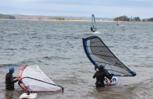 Windsurfers Lake Lanier