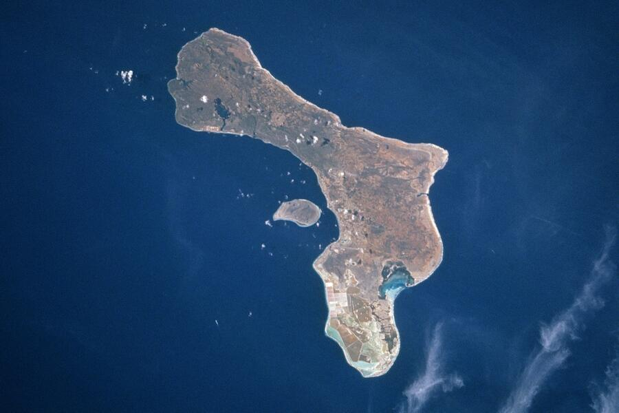 1 Bonaire -NASA.  Lac Bay, on  SE side of the Island