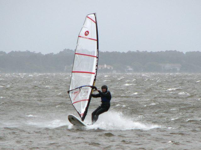Marcel breaking his high wind record