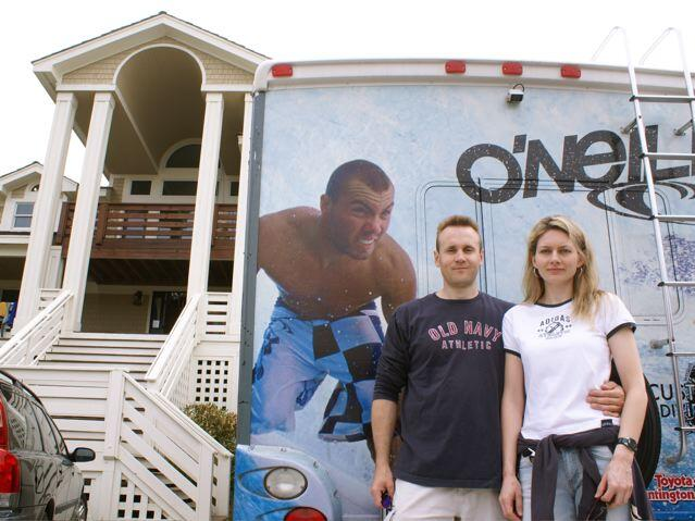 Marcel & Blanka take in O'Neill Surfing Contest in Nags Head