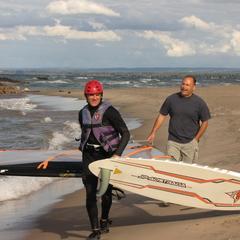 4 Matt & Gary, windsurfing Lake Erie at Beach 10