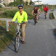7 Riding ocean-side bike path
