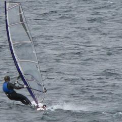 Marcel enjoying a windy day on Lake Lanier.