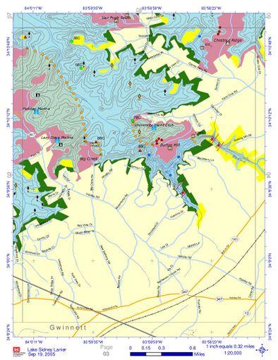 Lake Lanier Underwater Contour Maps - WindsportAtlanta com: Wiki
