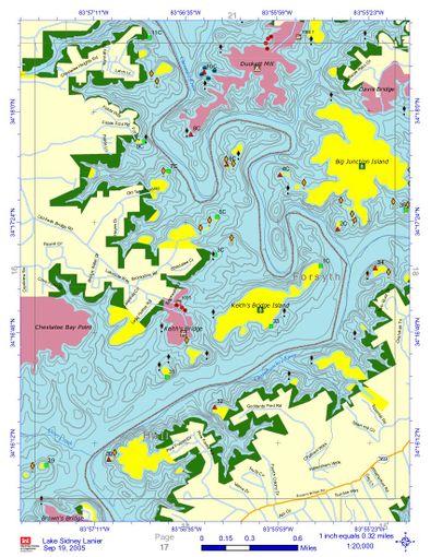 Map Of Southeast Georgia.Lake Lanier Underwater Contour Maps Windsportatlanta Com Wiki
