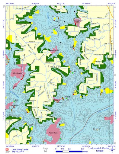 Lake Lanier Underwater Structure Map